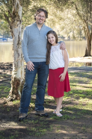 Hunter Valley Family Portrait Photography- Father daughter