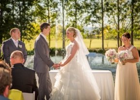 Hunter Valley Wedding Photography- Saying the vows