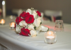 Hunter Valley Wedding Photography- Flower on the table at the reception