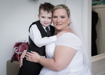 Hunter Valley Wedding Photography- Bride and son
